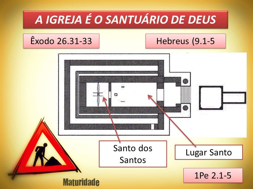 A IGREJA É O SANTUÁRIO DE DEUS Êxodo 26.31-33 Hebreus (9.1-5 Santo dos Santos Lugar Santo 1Pe 2.1-5