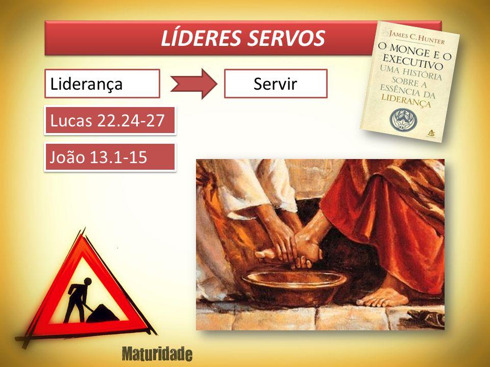LÍDERES SERVOS LiderançaServir Lucas 22.24-27 João 13.1-15