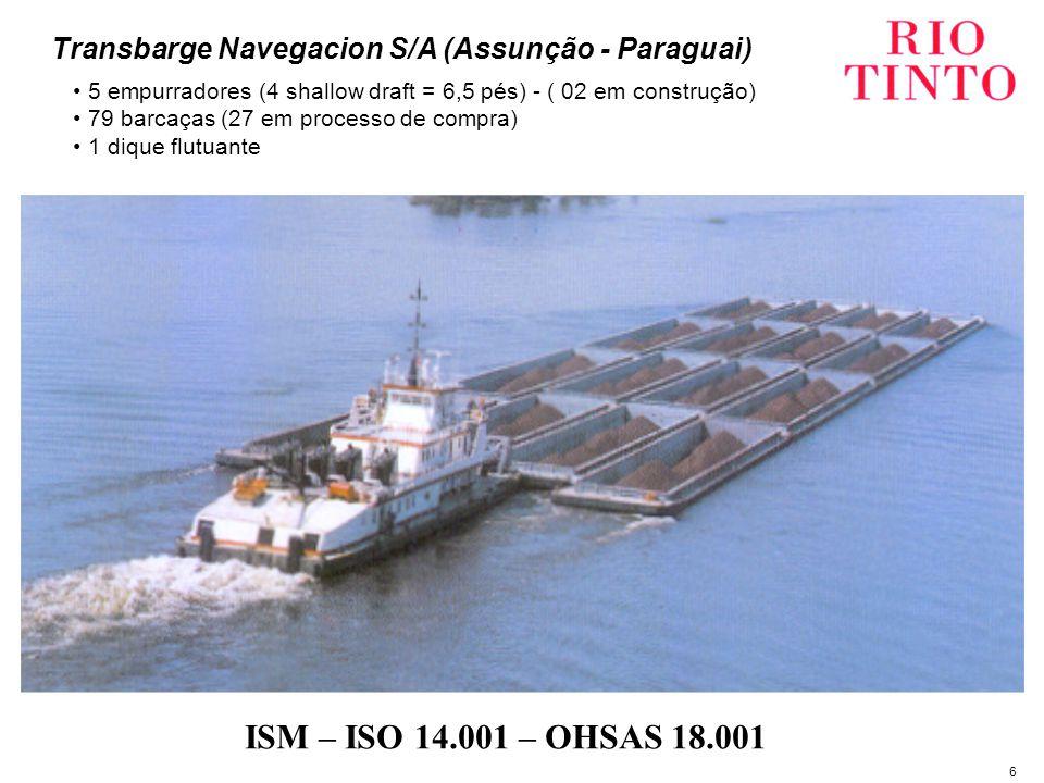 7 A Rio Tinto adota uma conduta responsável e de longo prazo em seus negócios visando um retorno financeiro aos acionistas.