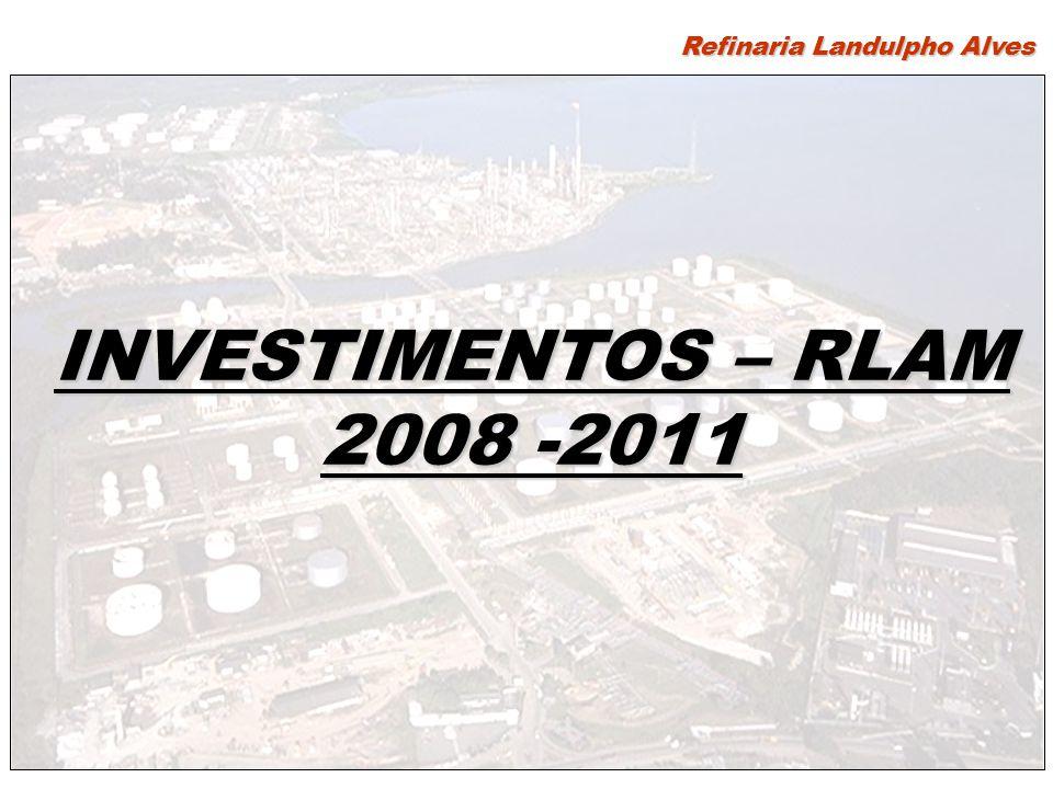 INVESTIMENTOS – RLAM 2008 -2011