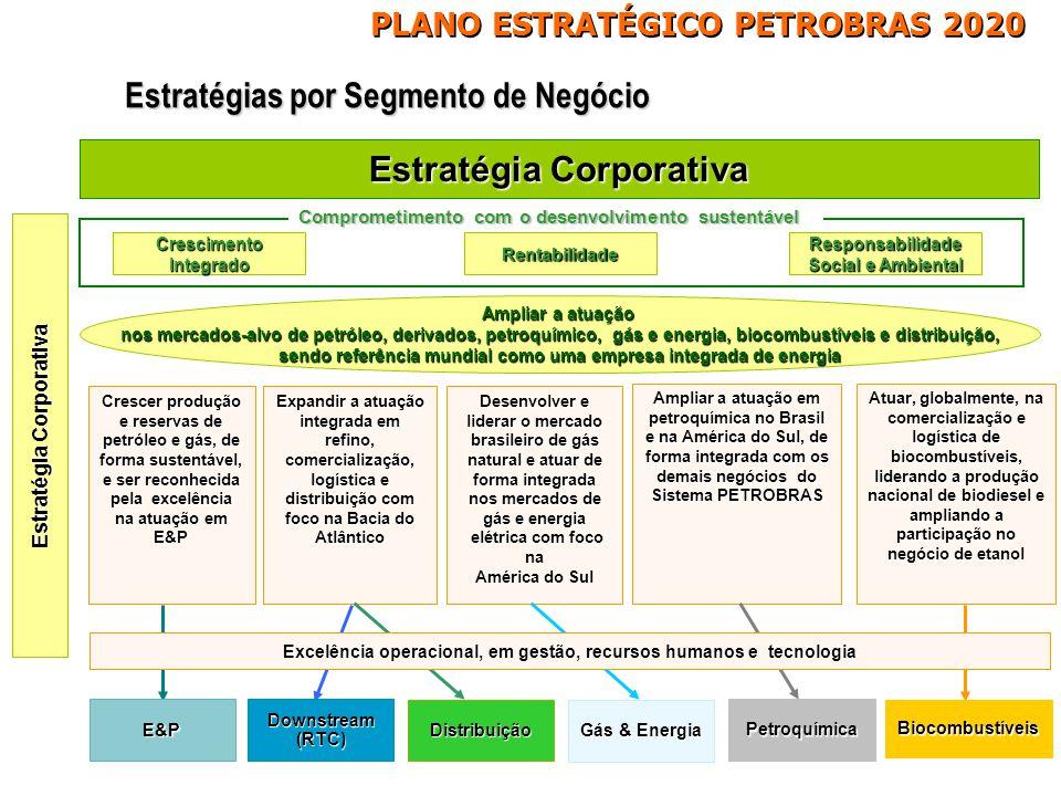 Estratégia Corporativa Desenvolver e liderar o mercado brasileiro de gás natural e atuar de forma integrada nos mercados de gás e energia Desenvolver