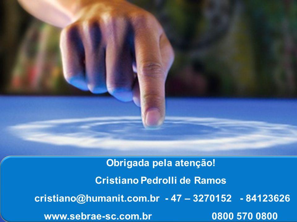 SEBRAE/SC – Avenida Rio Branco 611, centro, Florianópolis/sc 0800 570 0800 Katia Regina Rausch – katia.regina@sc.sebrae.com.br Obrigada pela atenção!