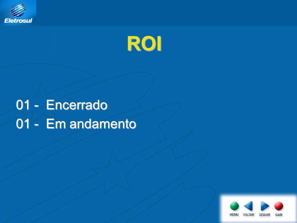 ROI 01 - Encerrado 01 - Em andamento