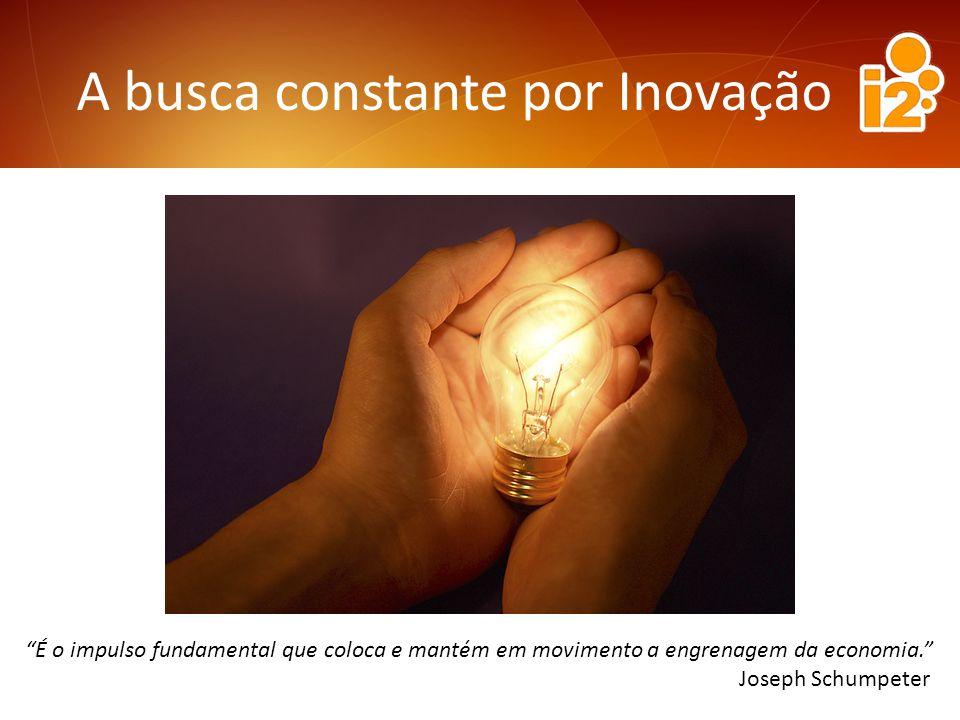 A busca constante por Inovação É o impulso fundamental que coloca e mantém em movimento a engrenagem da economia.