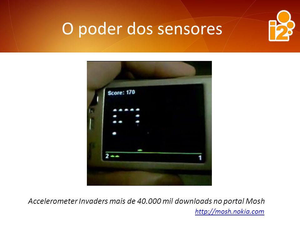 O poder dos sensores Accelerometer Invaders mais de 40.000 mil downloads no portal Mosh http://mosh.nokia.com