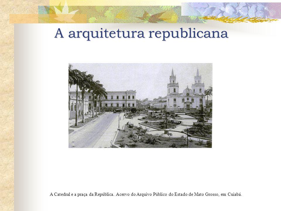 A Catedral e a praça da República.Acervo do Arquivo Público do Estado de Mato Grosso, em Cuiabá.