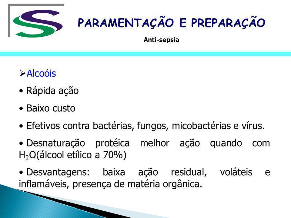 PERÓXIDO DE HIDROGÊNIO Aplicação: desinfetante de alto nível, principalmente para materiais termo sensíveis.