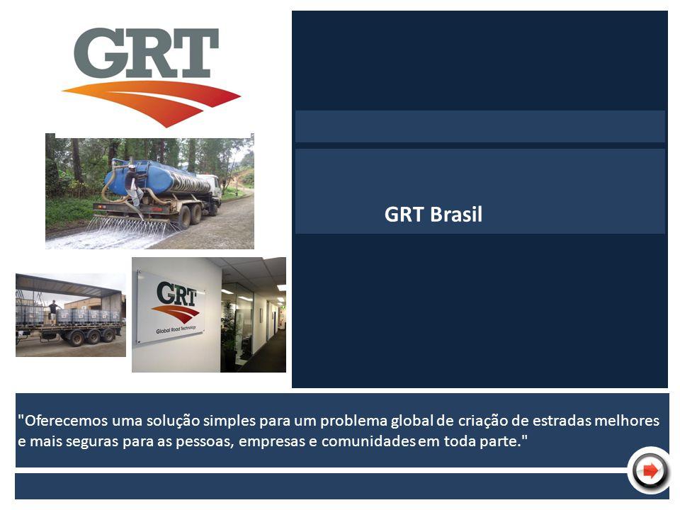 Nome da Apresentação Empresa Produto Finalidade Contato GRT pelo mundo GRT Brasil
