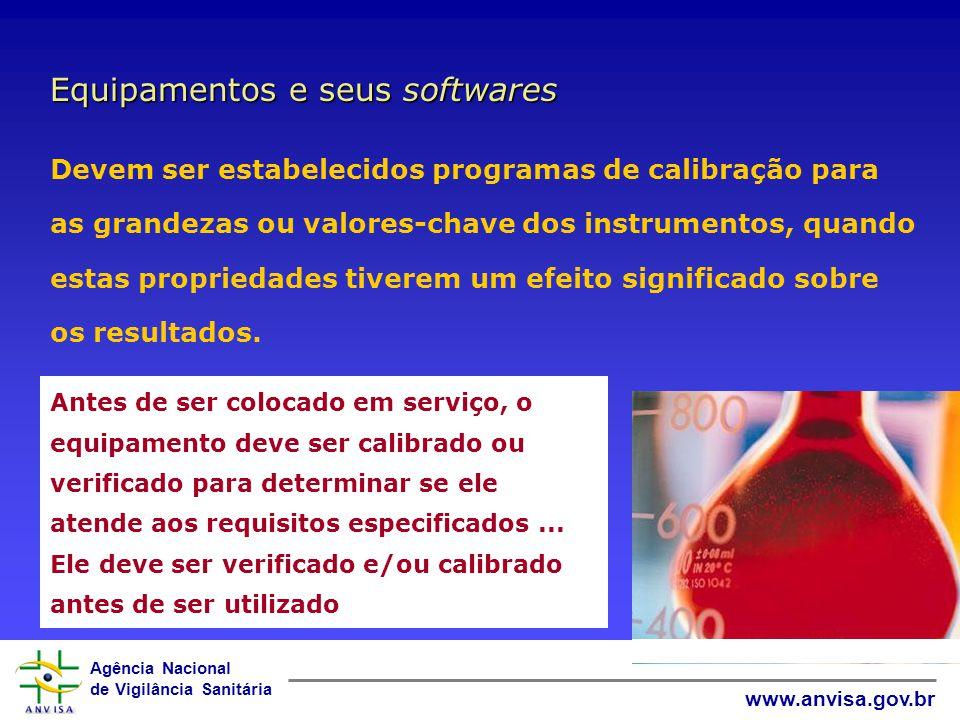Agência Nacional de Vigilância Sanitária www.anvisa.gov.br...usados para ensaio, calibração e amostragem devem: ser capazes de alcançar a exatidão req