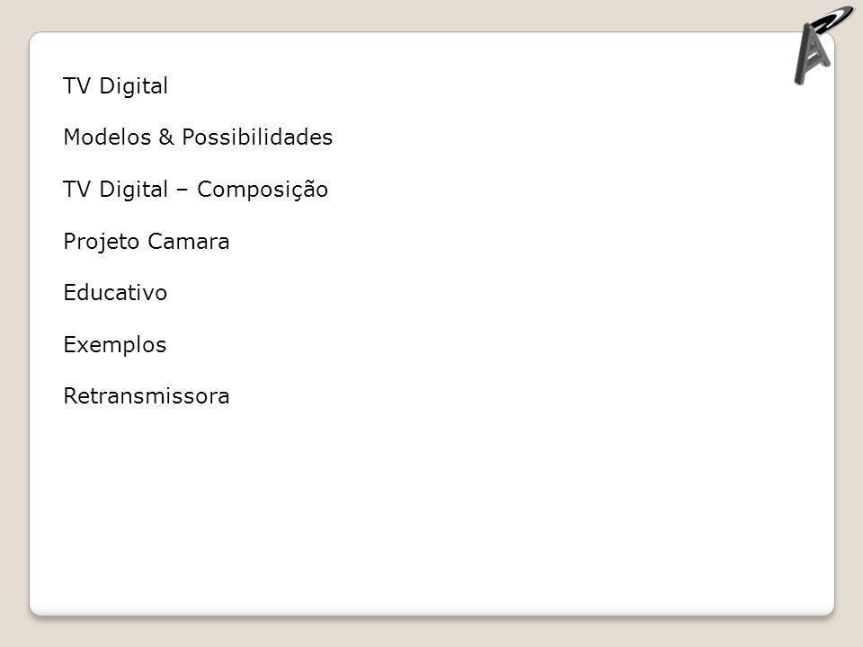 Exemplos Fonte: Amadeus Tv – cin.ufpe.br Serviços de Utilidade Pública Alerta a população Governo eletrônico, (declaração de imposto de renda, pagamento de taxas, extrato de fundo de garantia, boletim escolar dos filhos) Sáude (consultas ao SUS) Serviços bancários (pagamento de contas, consultas a saldo), Educação (pesquisas na internet e trabalhos cooperativos) Correio eletrônico (cada brasileiro com uma conta de e-mail) Dados na produção audiovisual