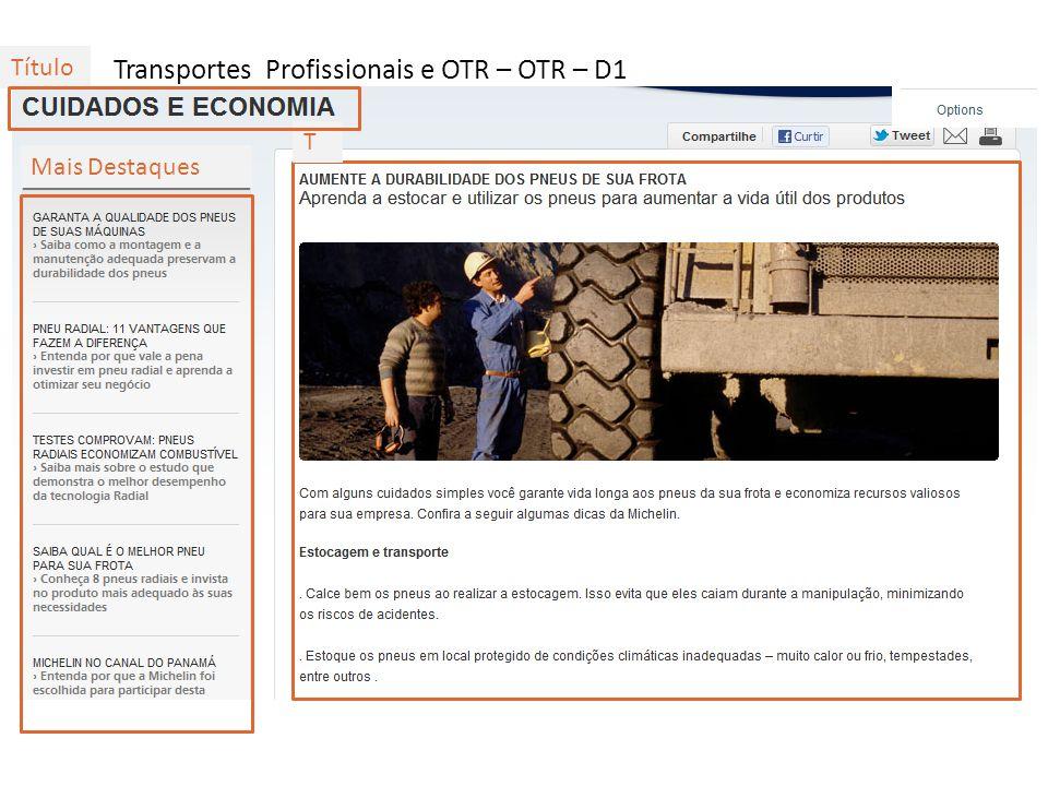 Transportes Profissionais e OTR – OTR – D2 T