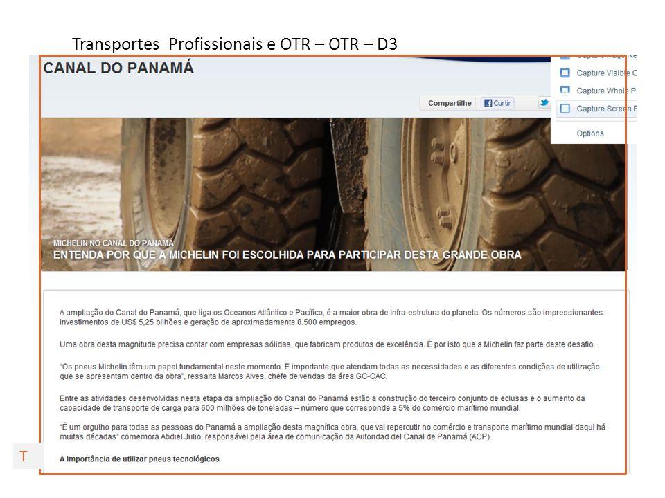 Transportes Profissionais e OTR – OTR – D4 T