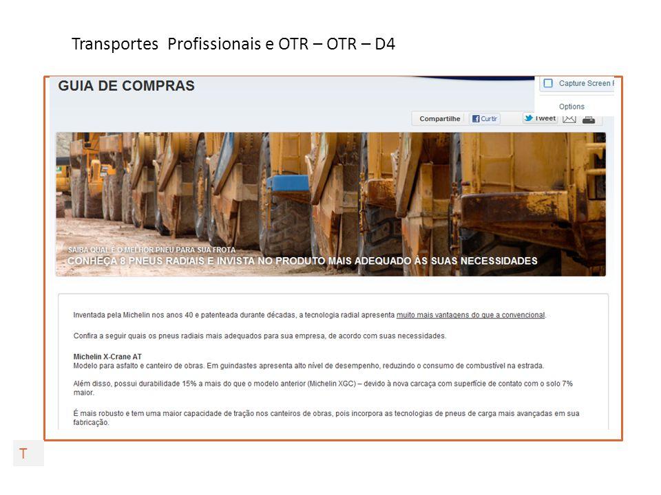 Transportes Profissionais e OTR – OTR – D5 T Mais Destaques