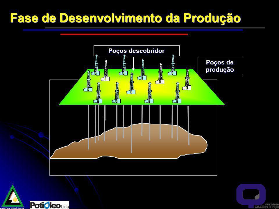 Fase de Desenvolvimento da Produção Poços de produção Poços descobridor