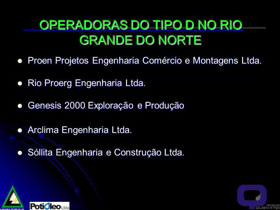 OPERADORAS DO TIPO D NO RIO GRANDE DO NORTE Proen Projetos Engenharia Comércio e Montagens Ltda.