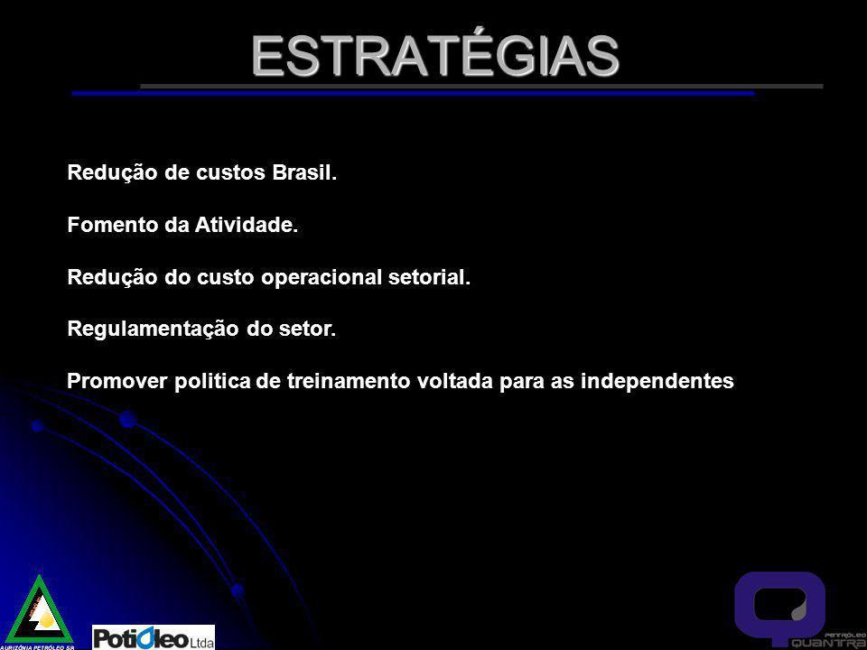 ESTRATÉGIAS Redução de custos Brasil.Fomento da Atividade.