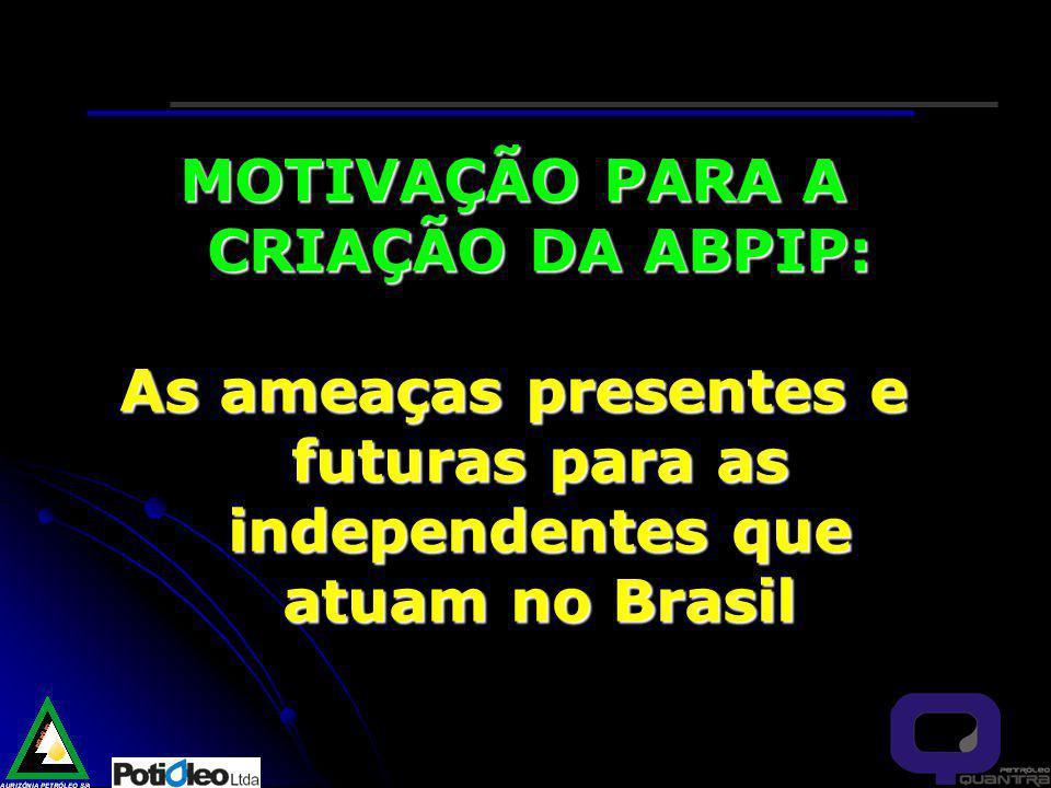 MOTIVAÇÃO PARA A CRIAÇÃO DA ABPIP: As ameaças presentes e futuras para as independentes que atuam no Brasil