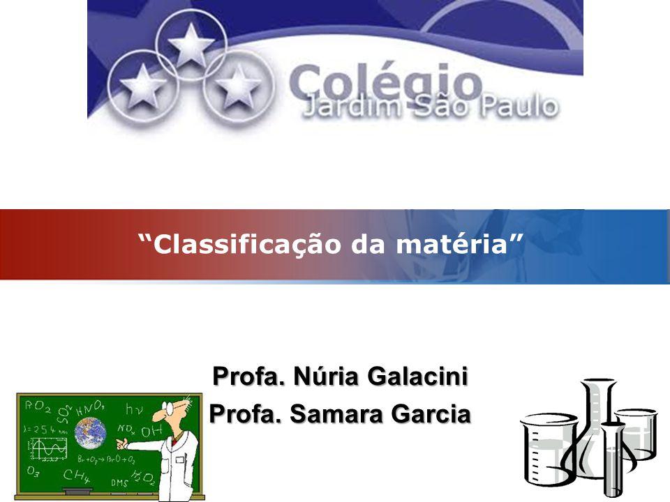 LOGO Classificação da matéria Profa. Núria Galacini Profa. Samara Garcia