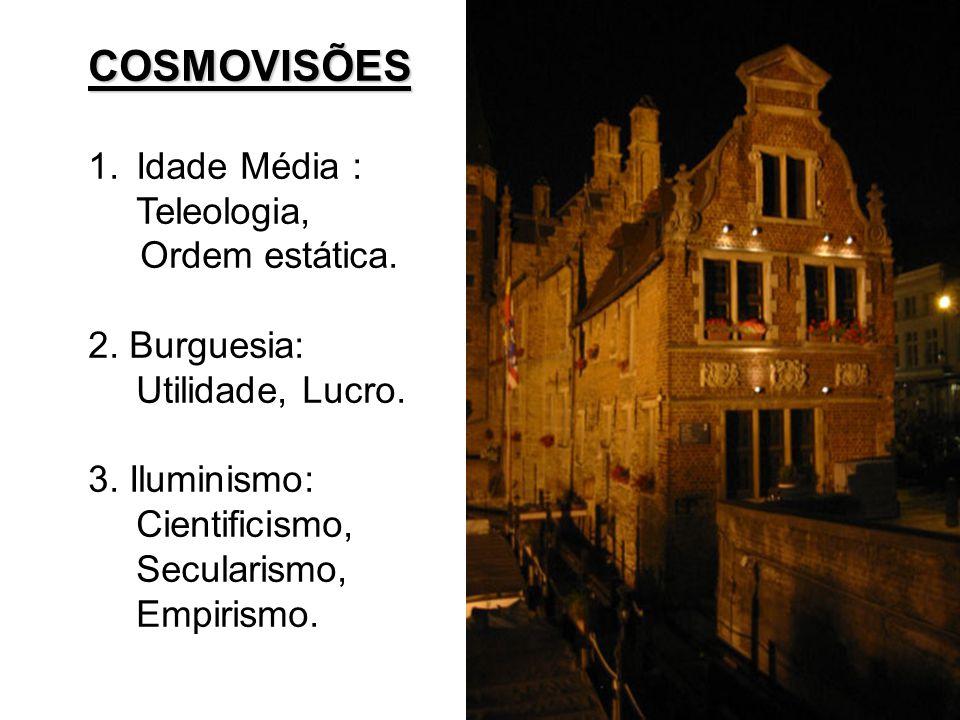COSMOVISÕES 1.Idade Média : Teleologia, Ordem estática.