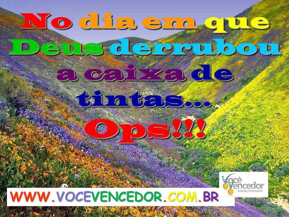 No dia em que Deus derrubou a caixa de tintas… Ops!!!Ops!!! WWW.VOCEVENCEDOR.COM.BR