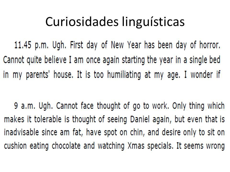 Curiosidades linguísticas