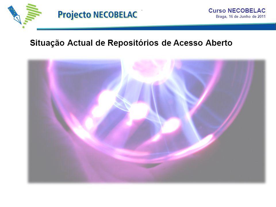 Antes do surgimento do projecto RCAAP eram conhecidos em Portugal 11 repositórios em produção ou fase de instalação; Durante a primeira fase do projec