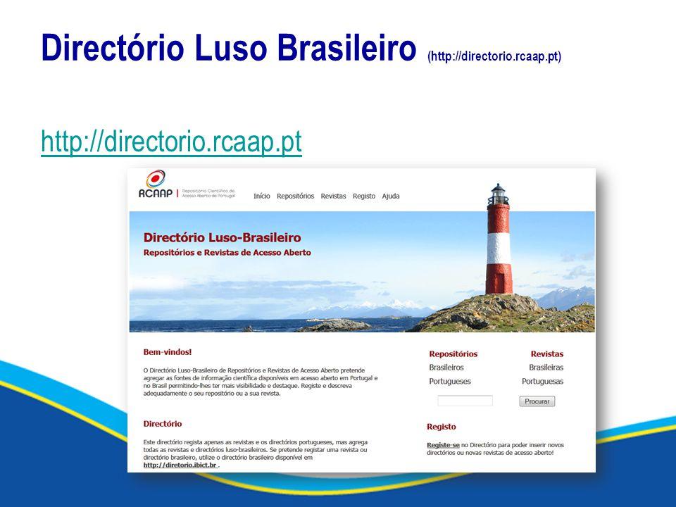 Directório Luso Brasileiro (http://directorio.rcaap.pt) http://directorio.rcaap.pt