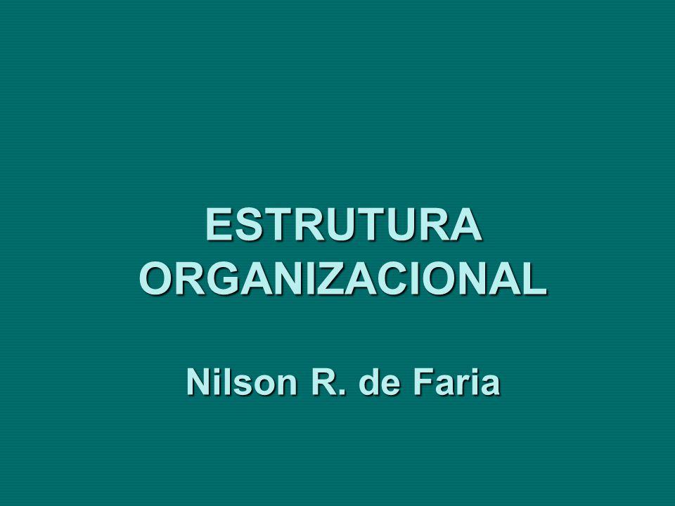 ESTRUTURA ORGANIZACIONAL Organograma Circular/Radial Fonte: Araújo – 2000 – p.136 O organograma circular/radial propicia boa visualização e representa a hierarquia organizacional, apresentando-a na ordem central para a periferia.