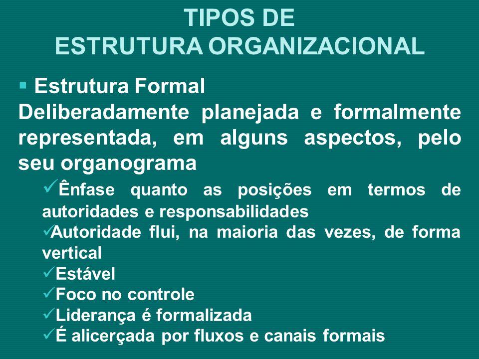 ESTRUTURA ORGANIZACIONAL Fluxograma Integrado Fonte: Araújo – 2000 – p.79