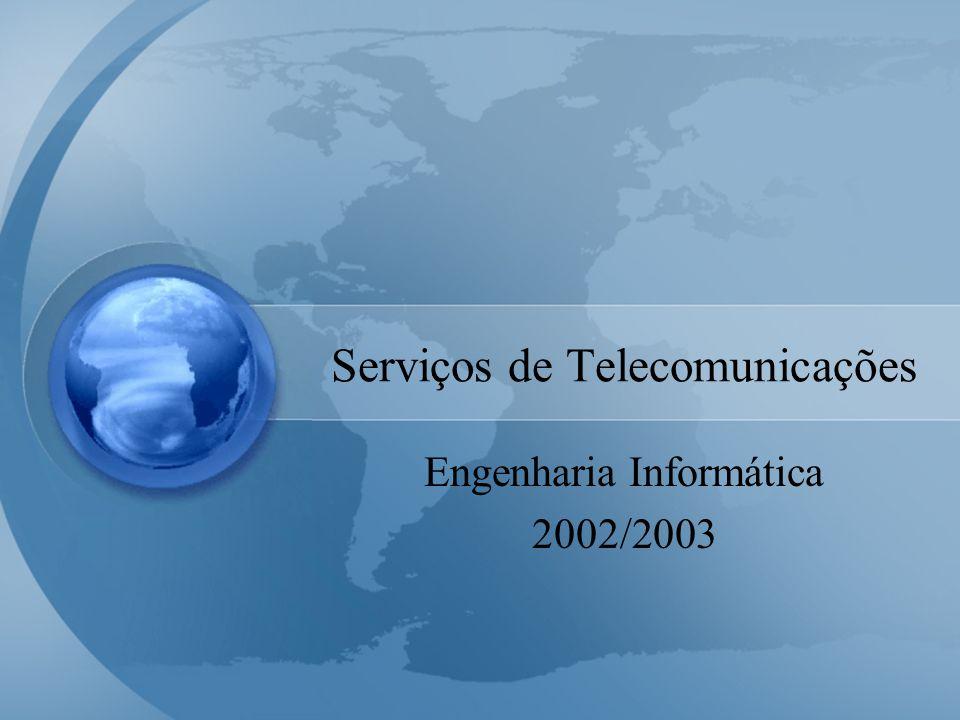 Serviços de Telecomunicações Engenharia Informática 2002/2003