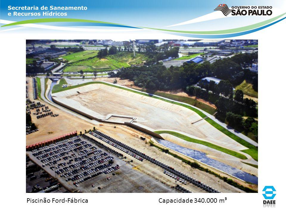 Piscinão Ford-Fábrica Capacidade 340.000 m³