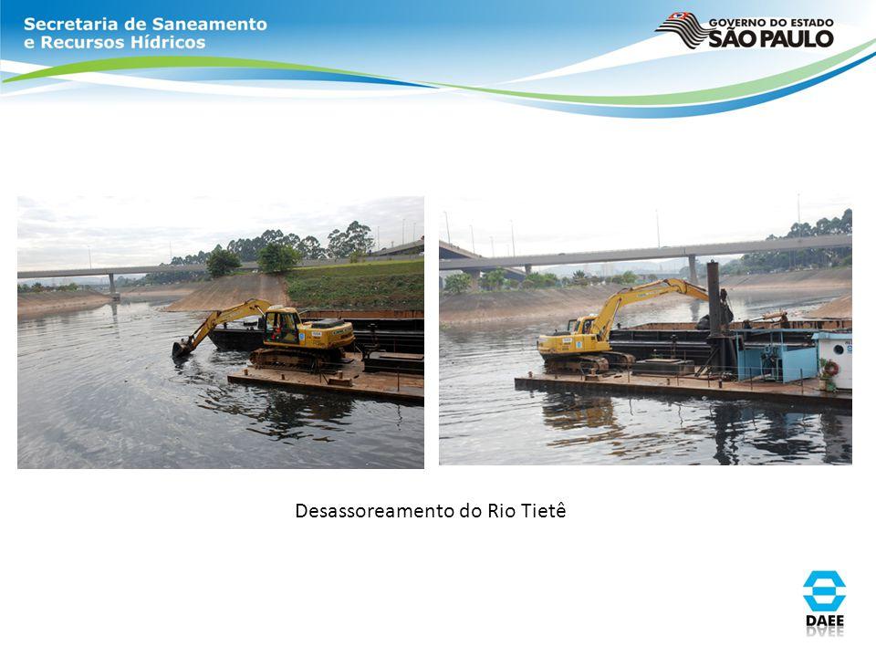 Desassoreamento do Rio Tietê