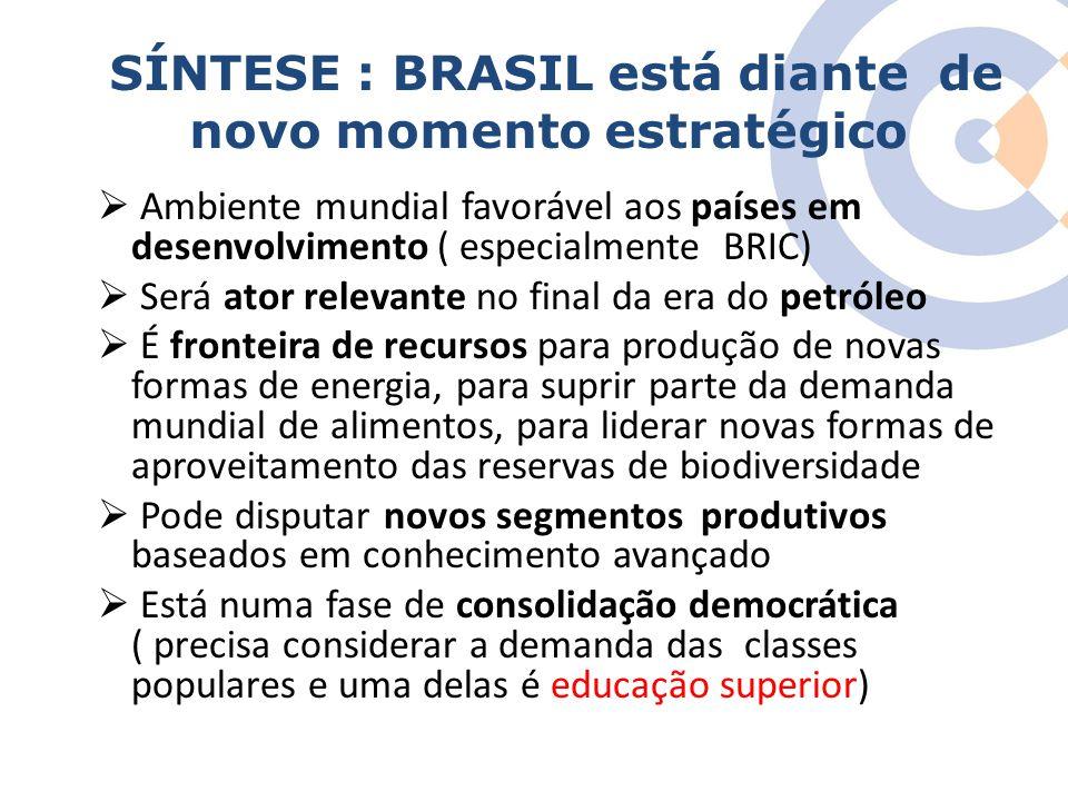 Clique para editar o estilo do título mestre SÍNTESE : BRASIL está diante de novo momento estratégico Ambiente mundial favorável aos países em desenvo