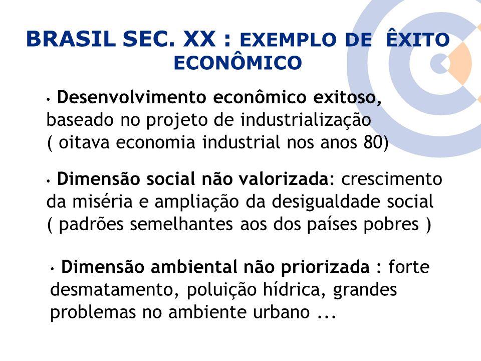 Clique para editar o estilo do título mestre Desenvolvimento econômico exitoso, baseado no projeto de industrialização ( oitava economia industrial no