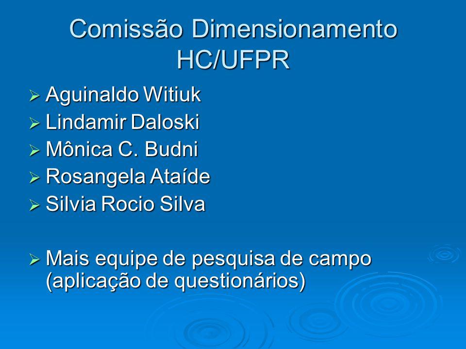 DIMENSIONAMENTO DE PESSOAL TÉCNICO-ADMINISTRATIVO HOSPITAL DE CLÍNICAS / UFPR