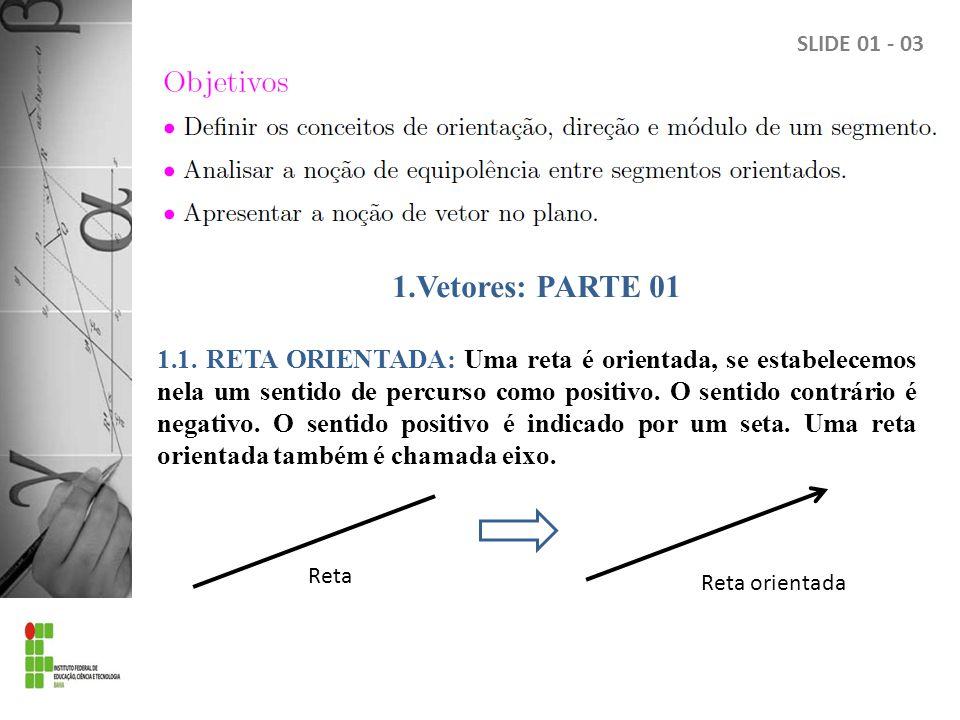 1.Vetores: PARTE 01 1.1.
