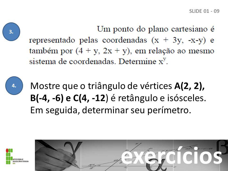 SLIDE 01 - 09 exercícios 3.4.