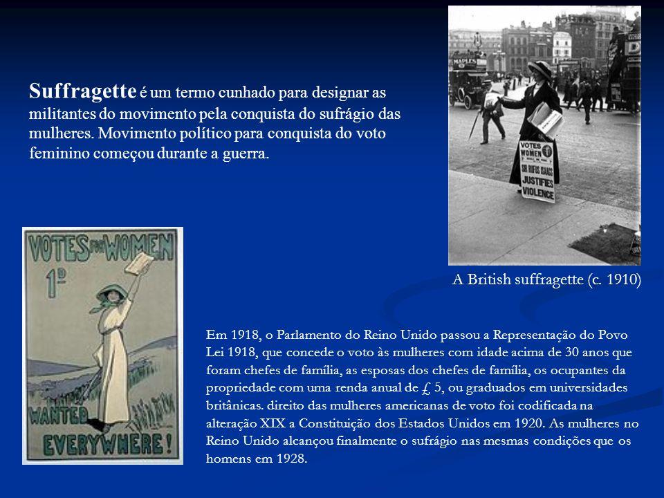 A British suffragette (c.