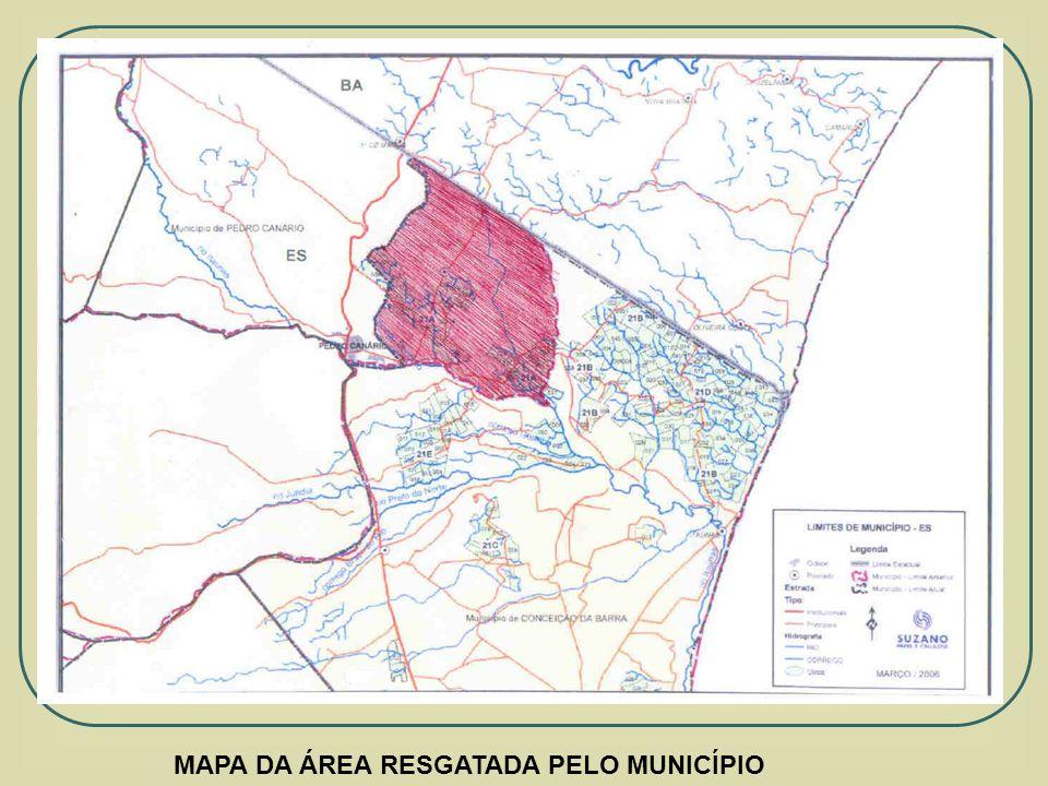 MAPA DA ÁREA RESGATADA PELO MUNICÍPIO
