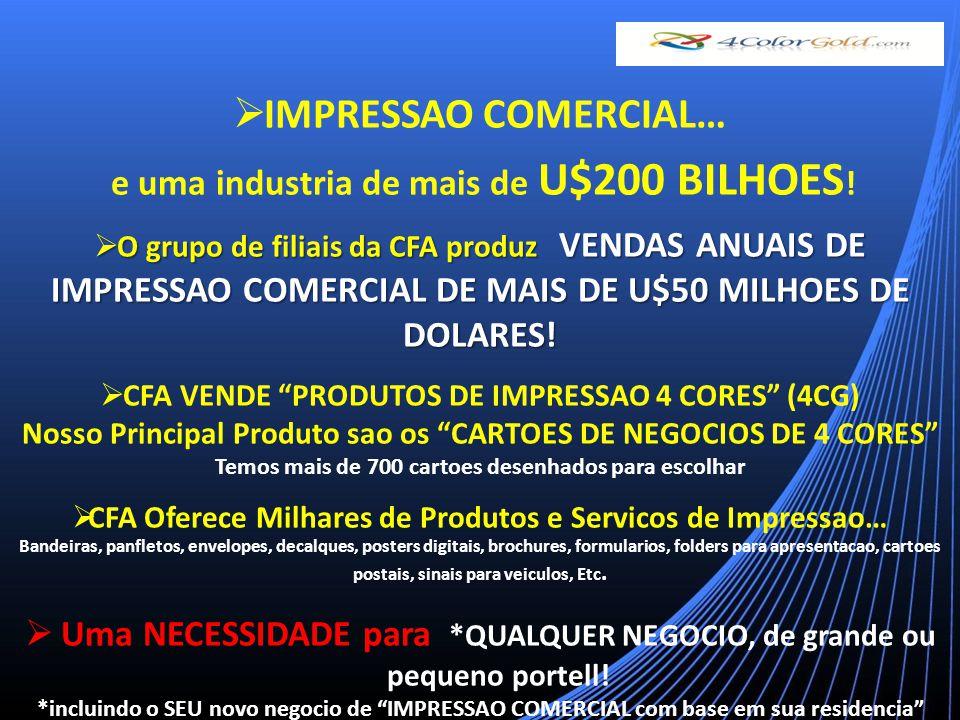 IMPRESSAO COMERCIAL… e uma industria de mais de U$200 BILHOES .