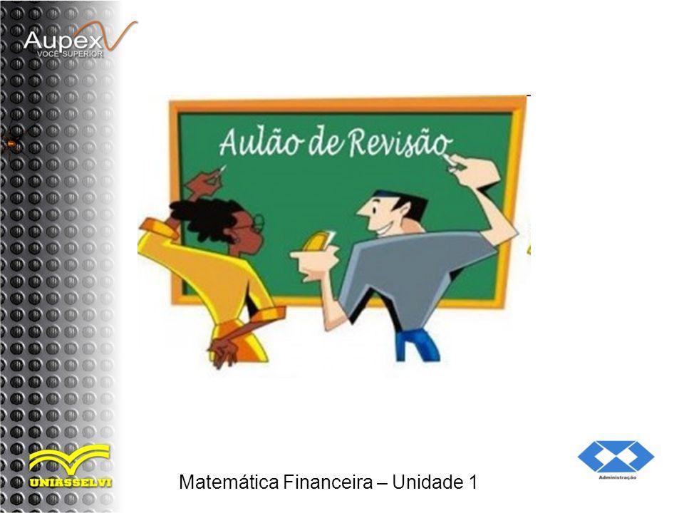 Matemática Financeira – Unidade 1