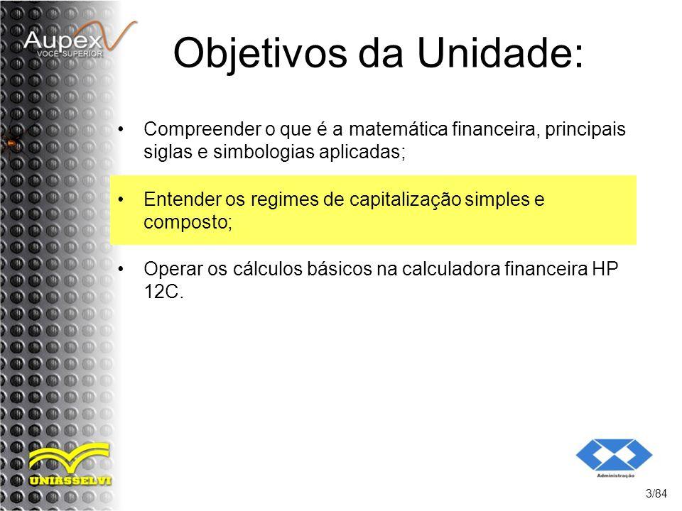 2 Sistemas de Capitalização 2.2 Sistema de Capitalização Composta Exemplo: Um capital de R$ 1.000,00 foi aplicado durante 3 anos à taxa de 10% a.a em regime de juros compostos.
