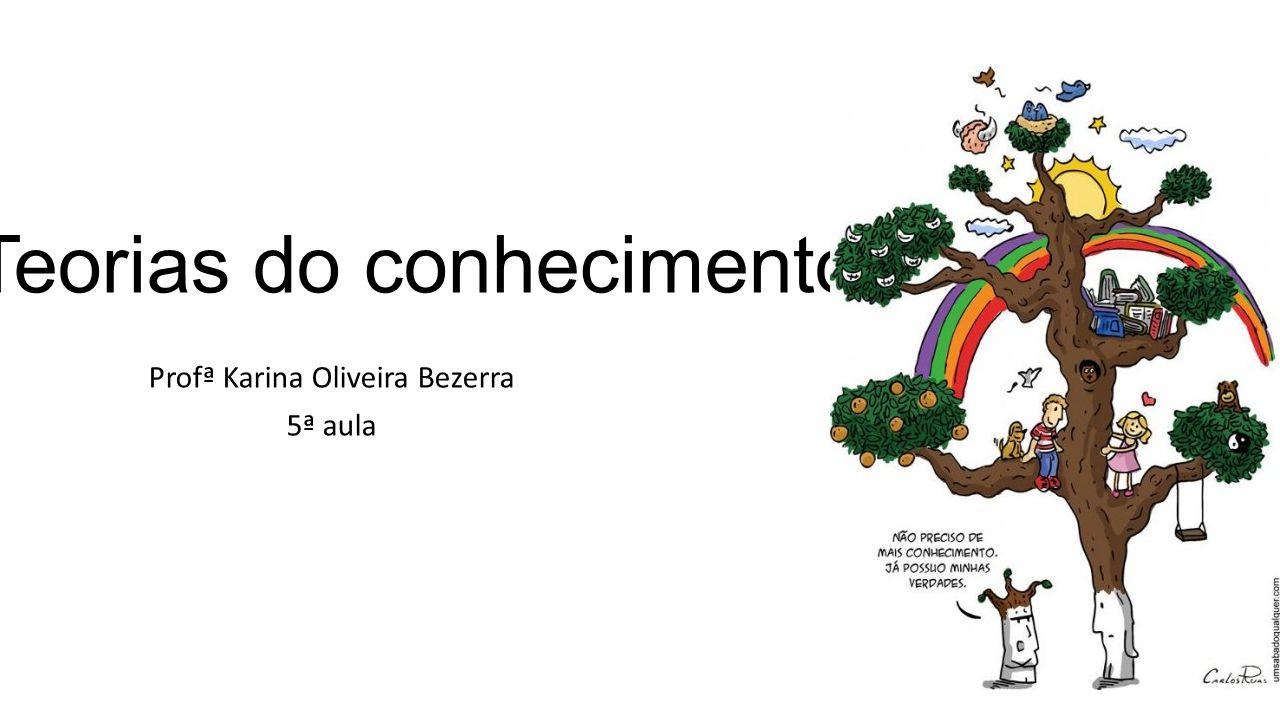 Teorias do conhecimento Profª Karina Oliveira Bezerra 5ª aula