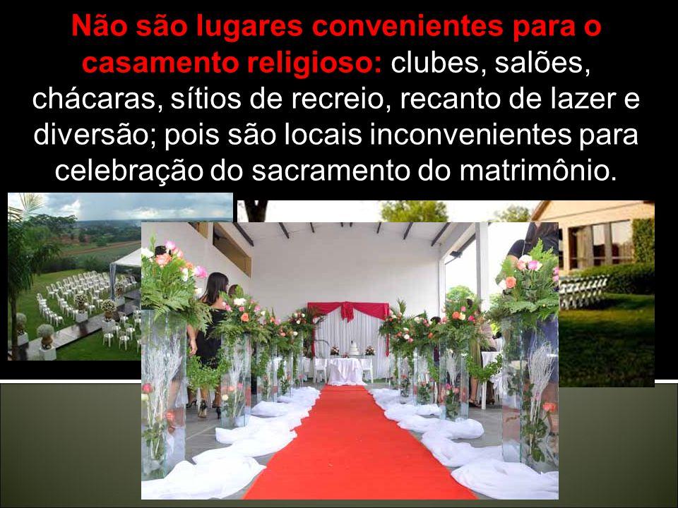 § 3. O matrimônio entre uma parte católica e outra não-batizada poderá ser celebrado na igreja ou em outro lugar conveniente.