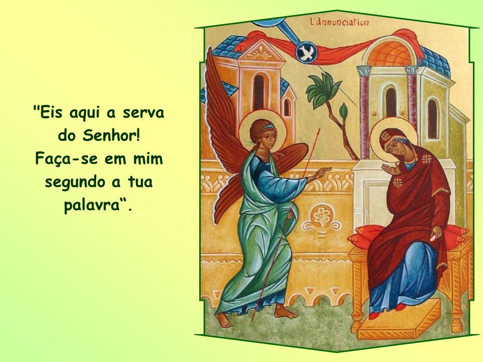 As palavras de Maria – Eis aqui a serva do Senhor – são, portanto, nossa resposta de amor ao amor de Deus. Elas nos mantêm sempre orientados a Ele, nu
