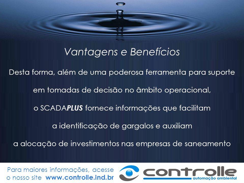 Para maiores informações, acesse o nosso site www.controlle.ind.br Vantagens e Benefícios Desta forma, além de uma poderosa ferramenta para suporte em
