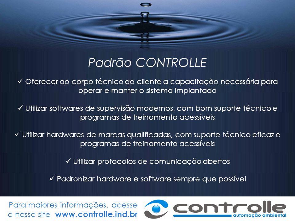 Para maiores informações, acesse o nosso site www.controlle.ind.br Padrão ótimo de bombeamento