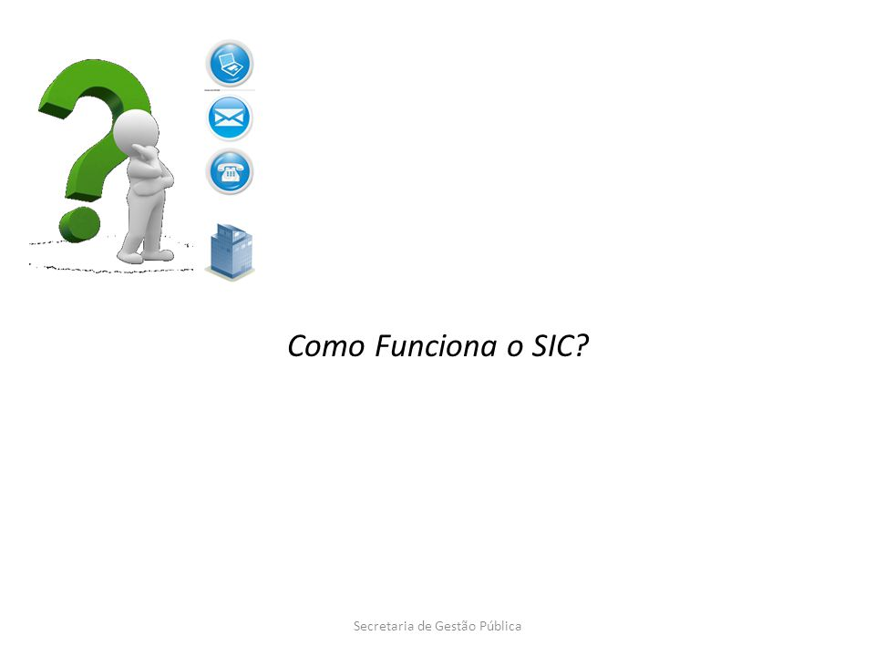 Funcionalidades do e-SIC – Resposta Secretaria de Gestão Pública