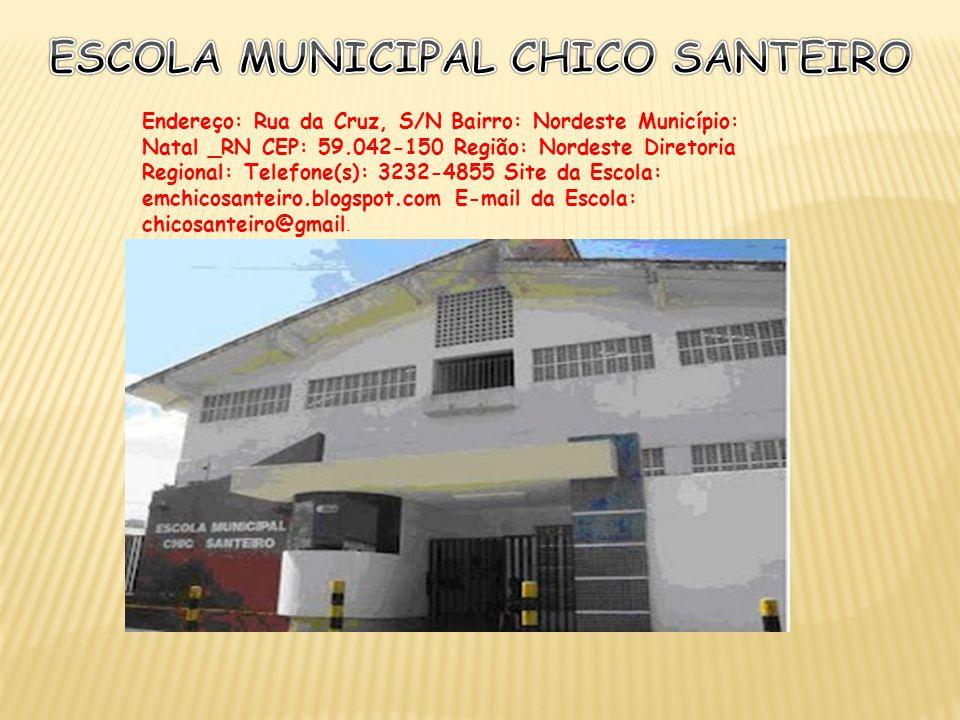 Endereço: Rua da Cruz, S/N Bairro: Nordeste Município: Natal _RN CEP: 59.042-150 Região: Nordeste Diretoria Regional: Telefone(s): 3232-4855 Site da E