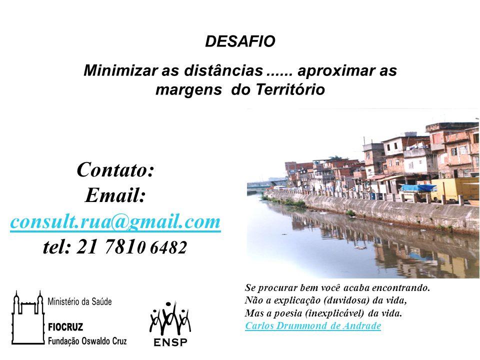 DESAFIO Minimizar as distâncias...... aproximar as margens do Território Contato: Email: consult.rua@gmail.com tel: 21 781 0 6482 Se procurar bem você